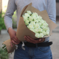 Bouquet of white roses symbol of friendship