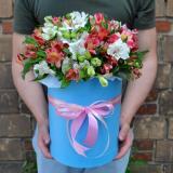Alstroemeria in a hatbox