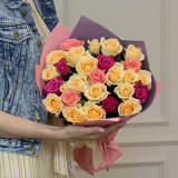 25 Colored roses