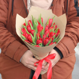 25 Red tulips