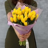 25 Yellow tulips
