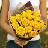 15 Жовтих троянд