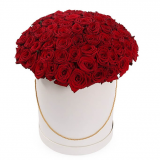 101 червона троянда в коробці