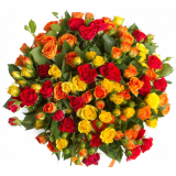 45 кущових троянд mix