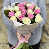19 Pink and white roses