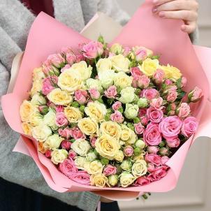 35 кустовых роз mix