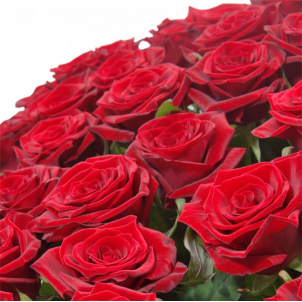 "Basket ""101 red roses"""