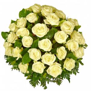 """Корзина """"51 белая роза"""""""