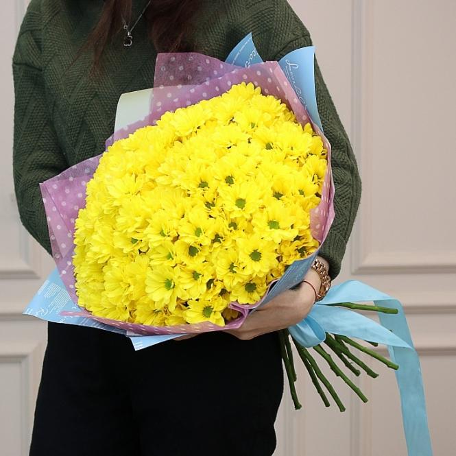 13 Жовтих хризантем