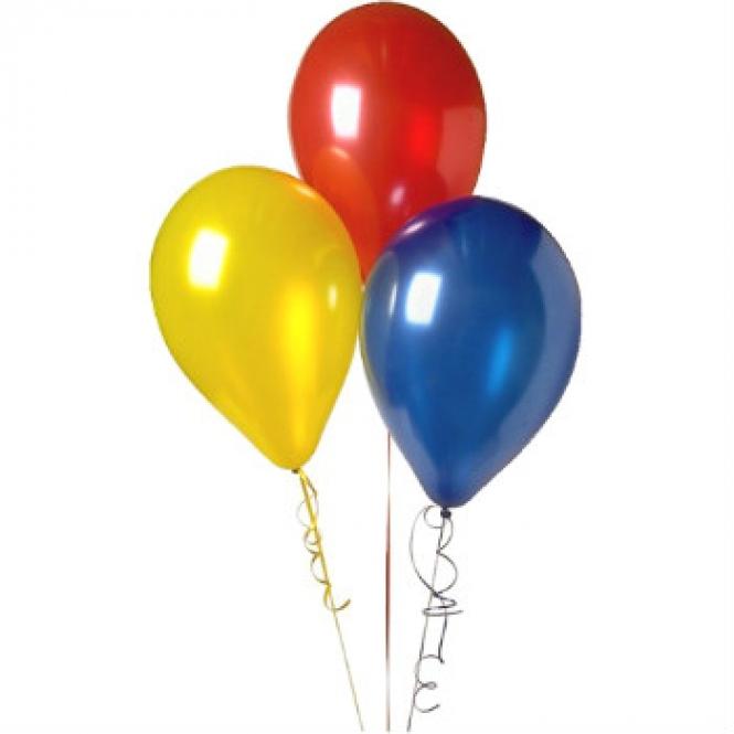 3 гелиевых шариков
