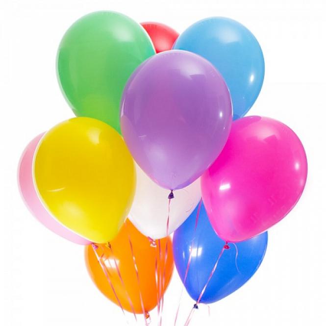 11 helium balloons