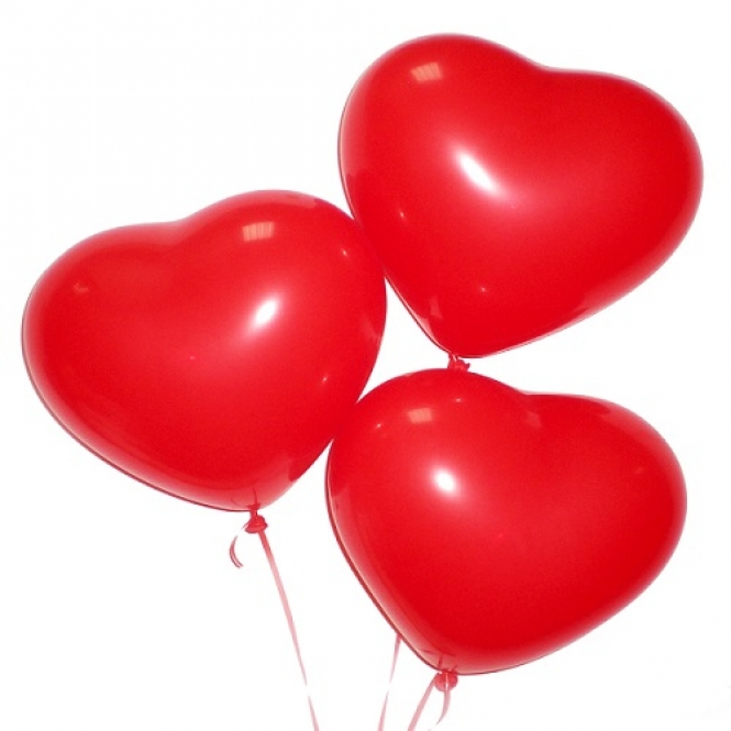 3 шарика сердца