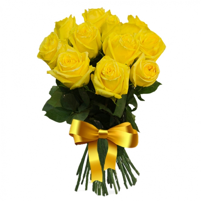 9 Жовтих троянд