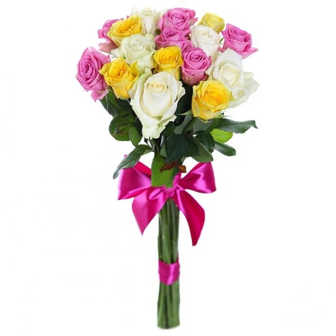 17 Цветных роз