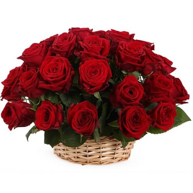 "Корзина ""35 красных роз"""