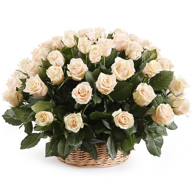 "Basket ""51 creamy rose"""