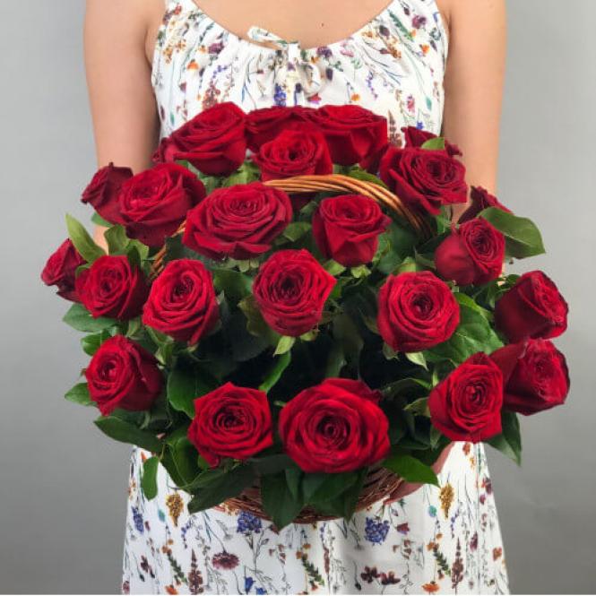 "Корзина ""31 красная роза"""