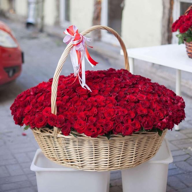 "Basket ""501 red roses"""