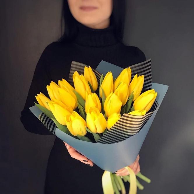 19 Yellow tulips