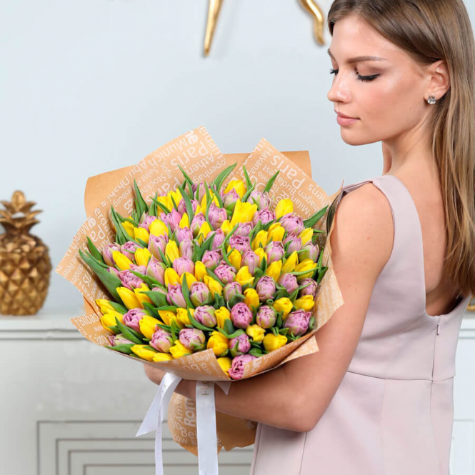 101 Pink and yellow tulip