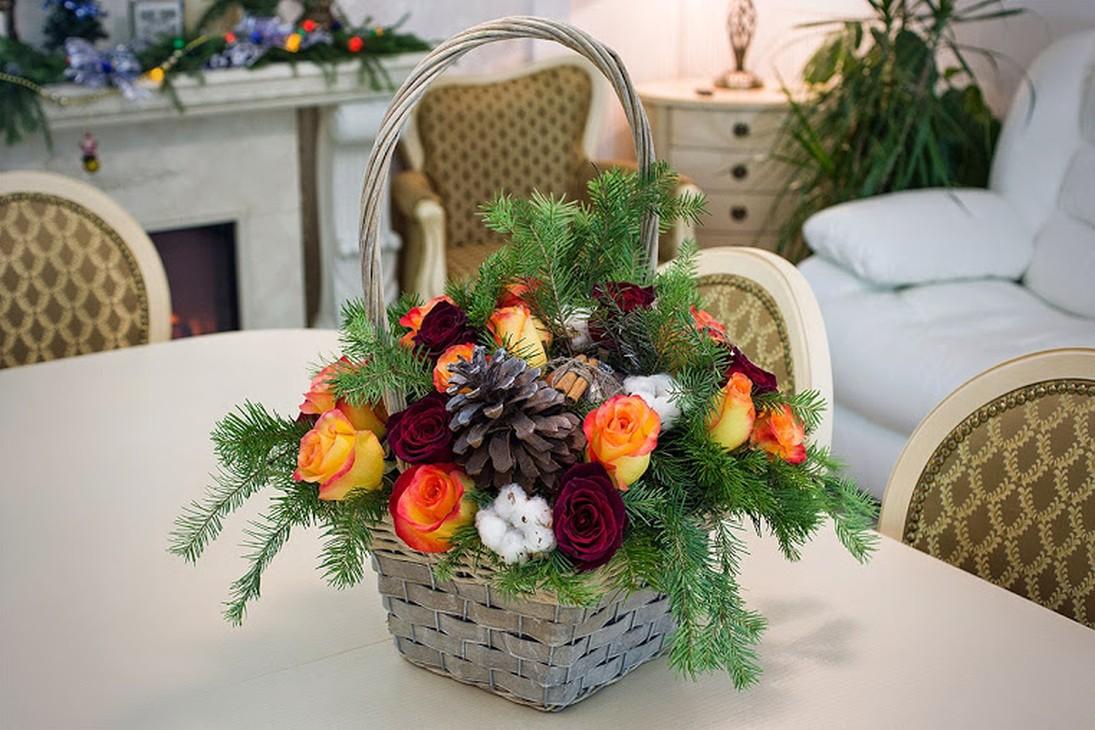 Композиции букетов к рождеству
